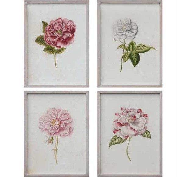 Reproduction Floral Wall Art, Set of 4 | walls | Pinterest | Floral ...
