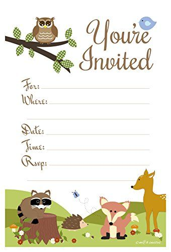 image about Free Printable Woodland Animal Templates referred to as Printable Boy or girl Shower Invitation Templates - Absolutely free shower
