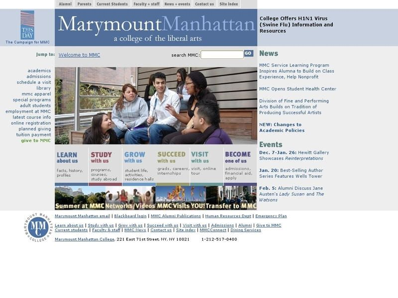 Manhattan College Tuition >> Marymount Manhattan College Manhattan College College