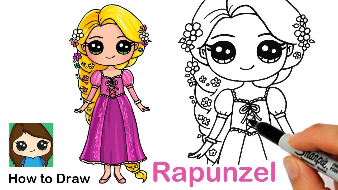 How To Draw Princess Rapunzel Disney Tangled Princess Drawings Cute Drawings Disney Princess Drawings