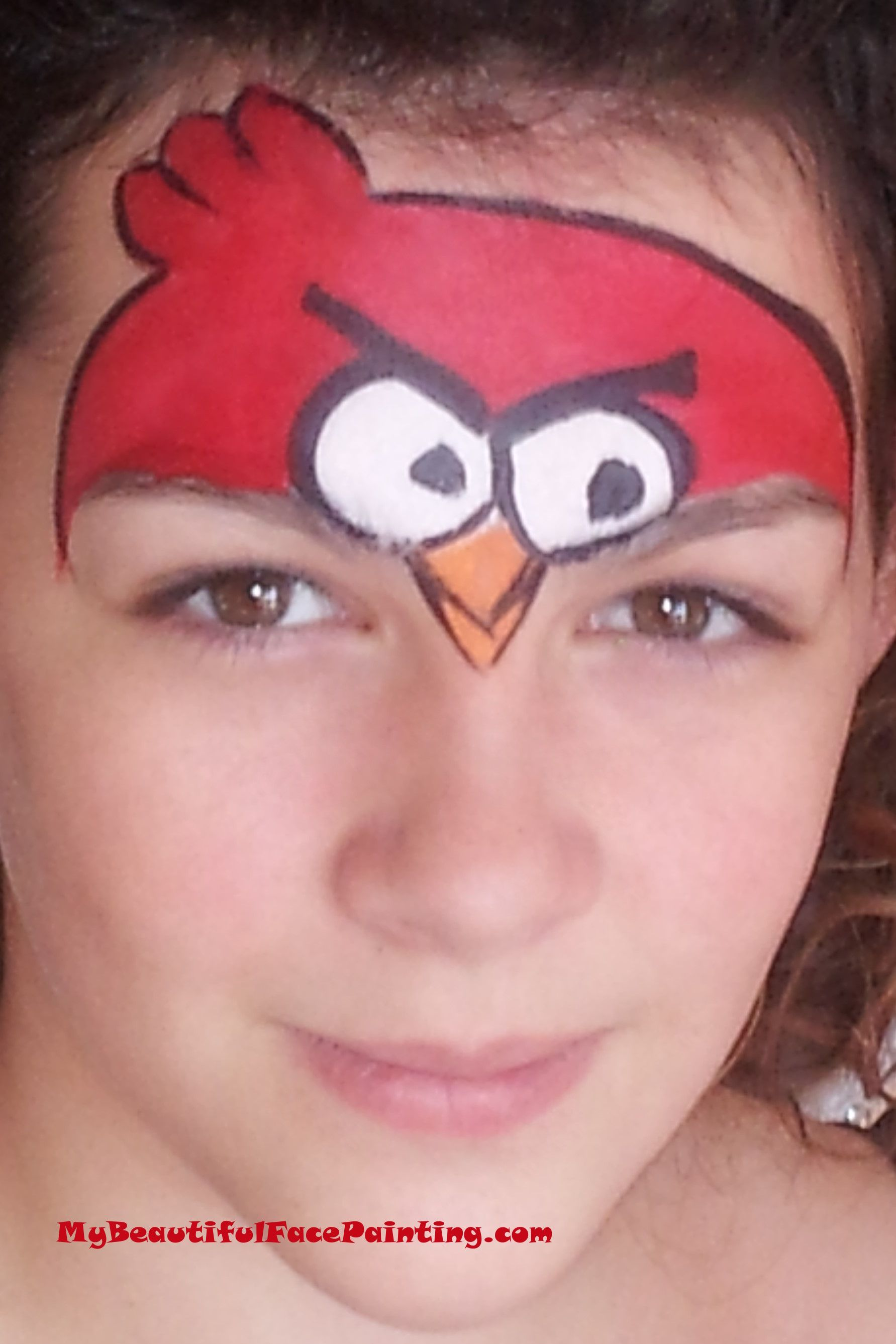 Angry Birds Face Paint | for kids | Pinterest