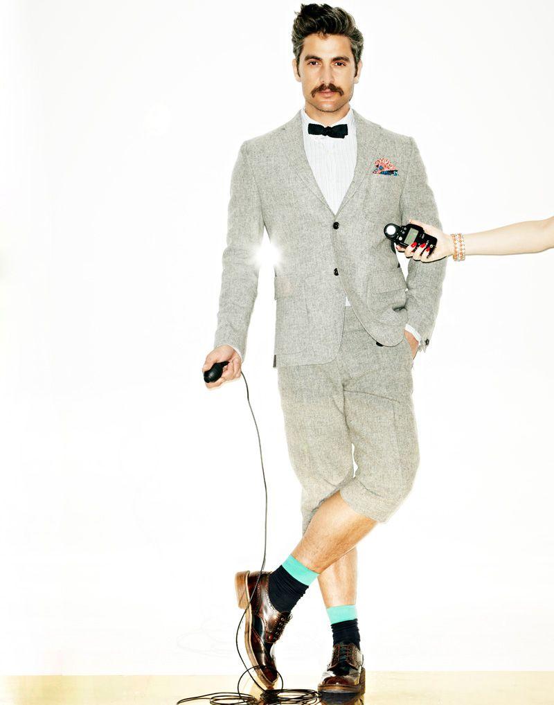 Traje de pantalón corto --------->  Douglas Freidman for La Maison Simons Spring 2012