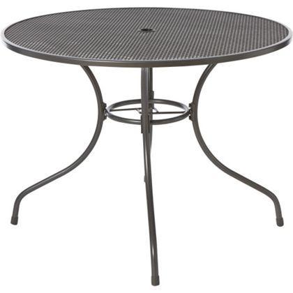 Ontario Round 4 Seater Metal Garden Table Metal Garden Table