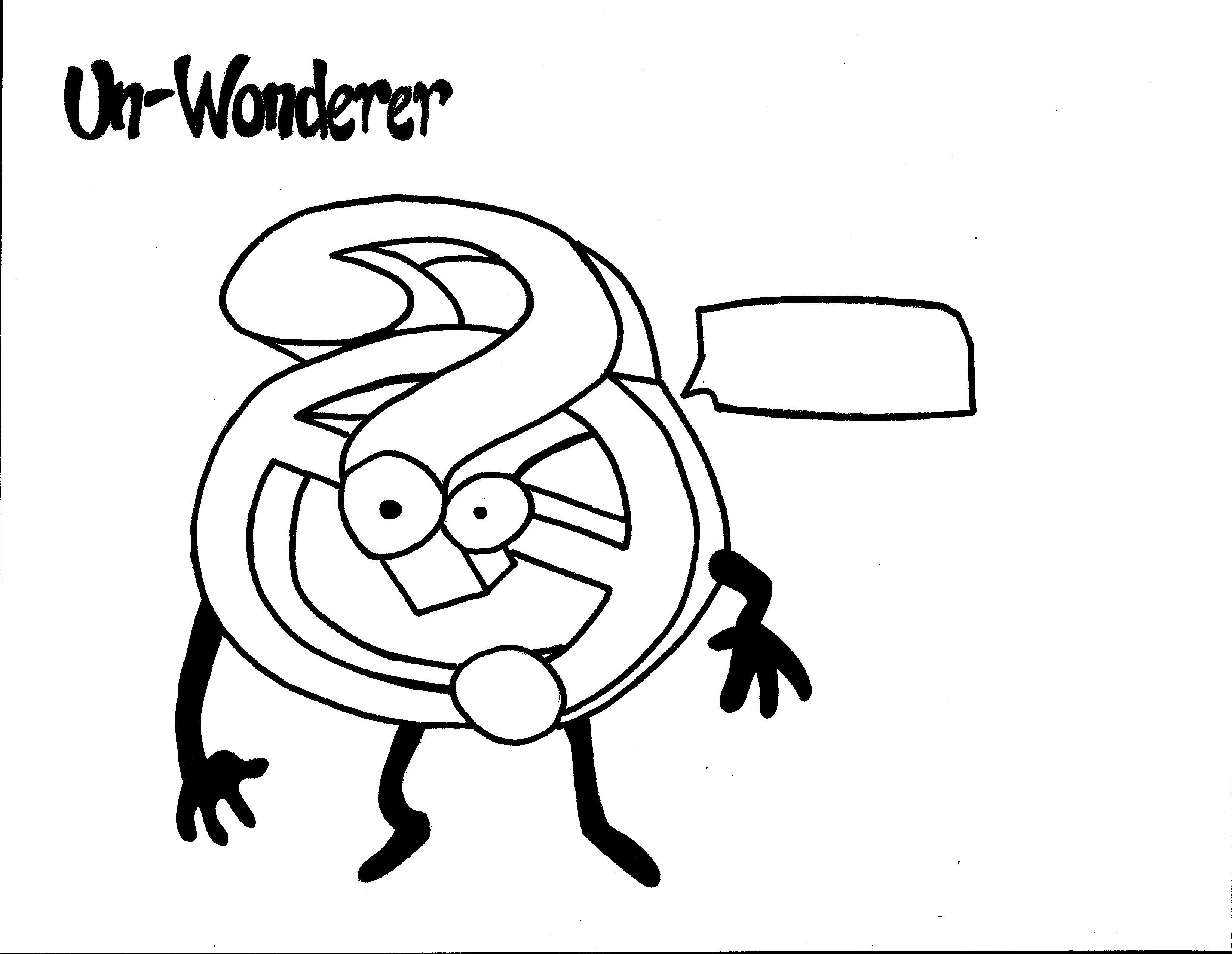 Un Wonderer Coloring Page Team Unthinkables Superflex Social Thinking
