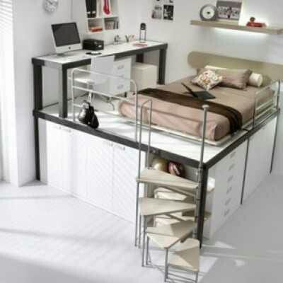 Modern ideas for teenage bedroom decorating in unique - Cool beds for teen girls ...