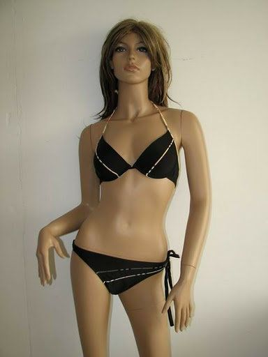 burberry bikini black