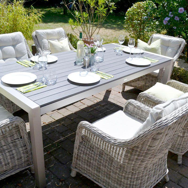 Gedeckter Tisch Einfach Miami Sitzgruppe Sonne Luftige