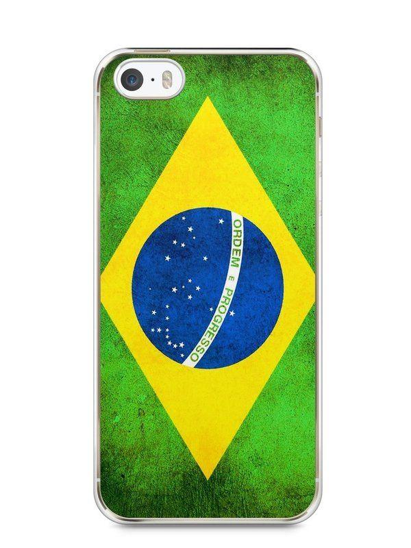 Capa Iphone 5/S Bandeira do Brasil - SmartCases - Acessórios para celulares e tablets :)