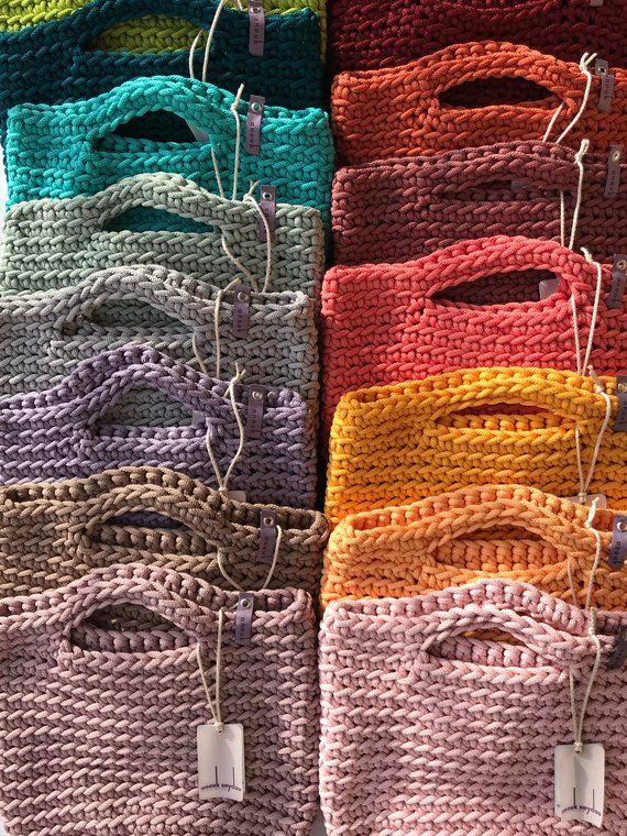 Crochet Tote Bag maglia borsa primavera verde colore moderno #goingoutoutfits