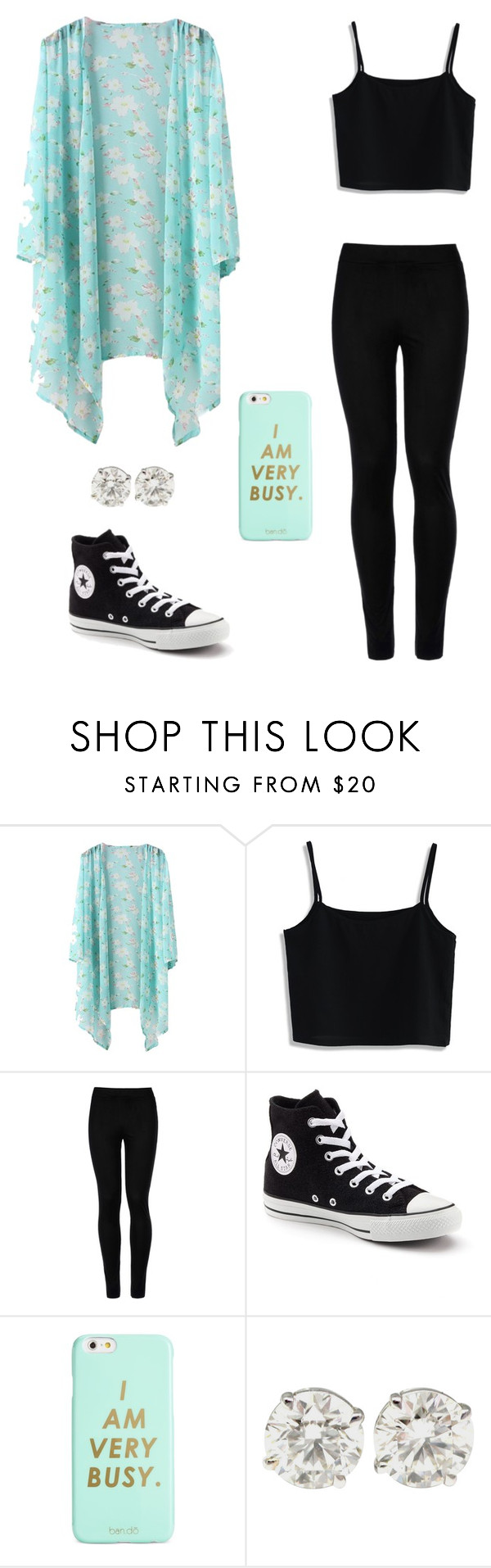 """""""I Am Very Busy"""" by laurenbrgr ❤ liked on Polyvore featuring Chicwish, Wolford, Converse and ban.do"""