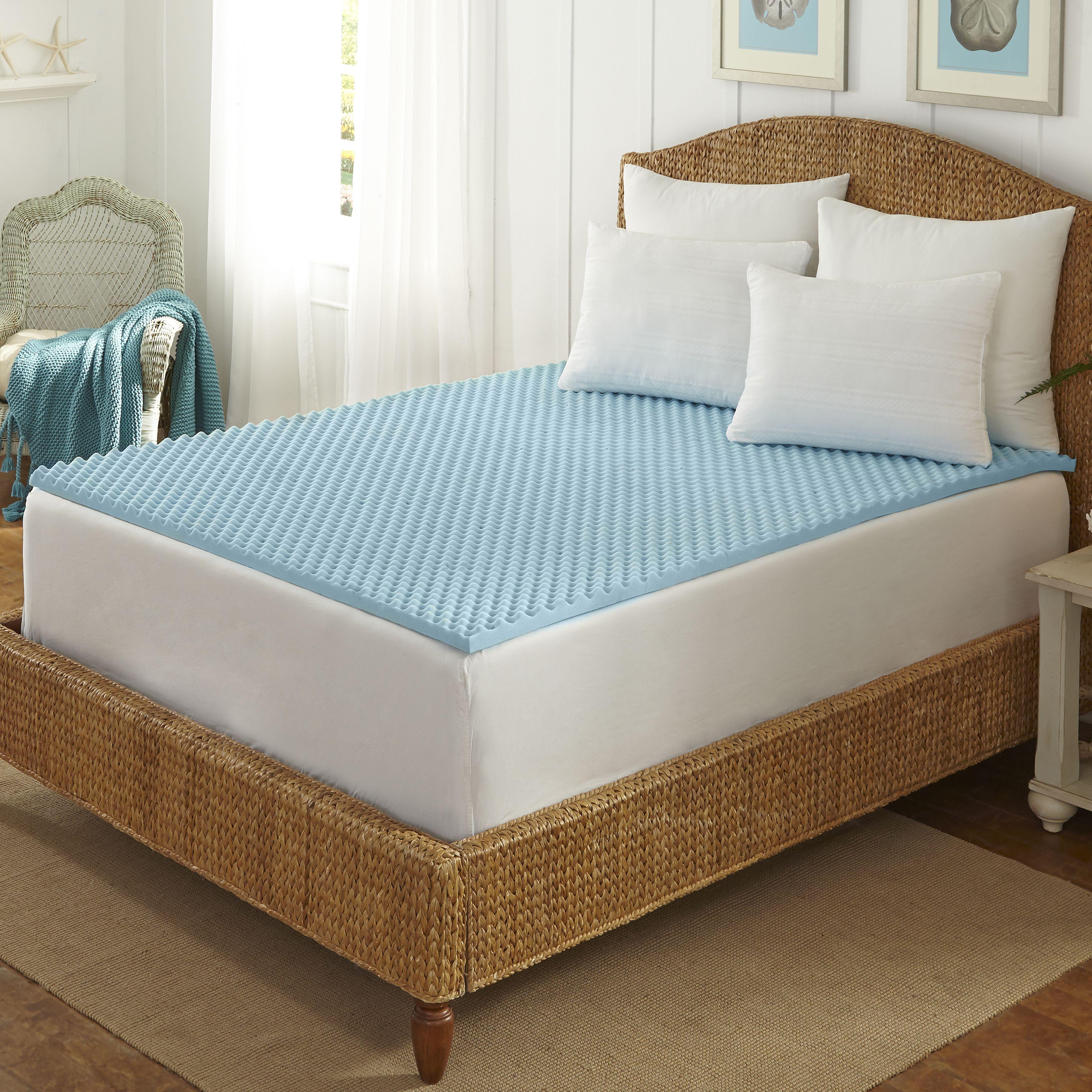 Arctic Sleep Cool Blue 1 5 Inch Memory Foam Twin Size Mattress Topper Hogar
