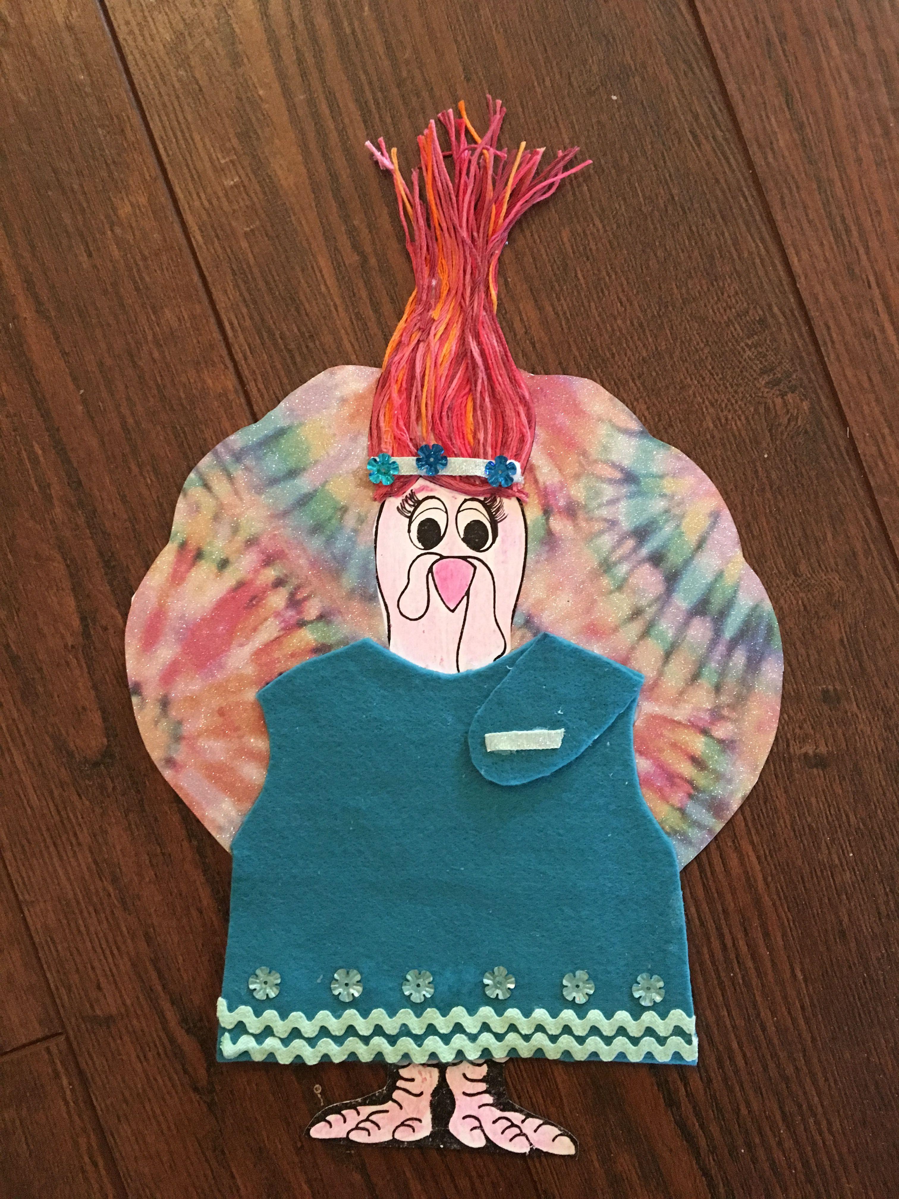 Turkey in Disguise. Poppy from Trolls! | November | Pinterest