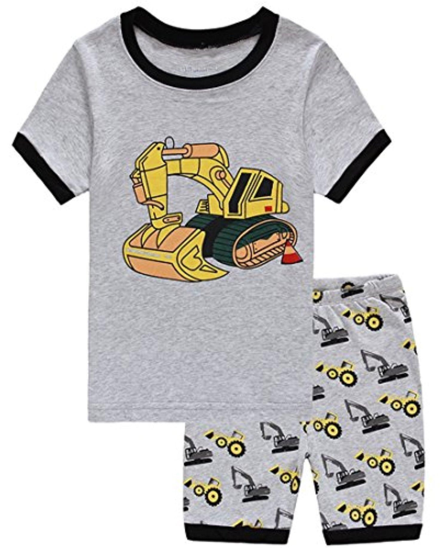 ec8a86bec3bd Babypajama Excavator Little Boys  Summer Shorts Pajamas Set 100% Cotton Pjs  Size 5 Years - Brought to you by Avarsha.com