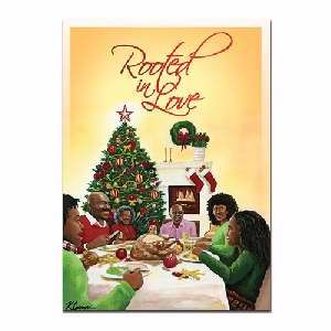 rooted in love african american christmas card inscription on