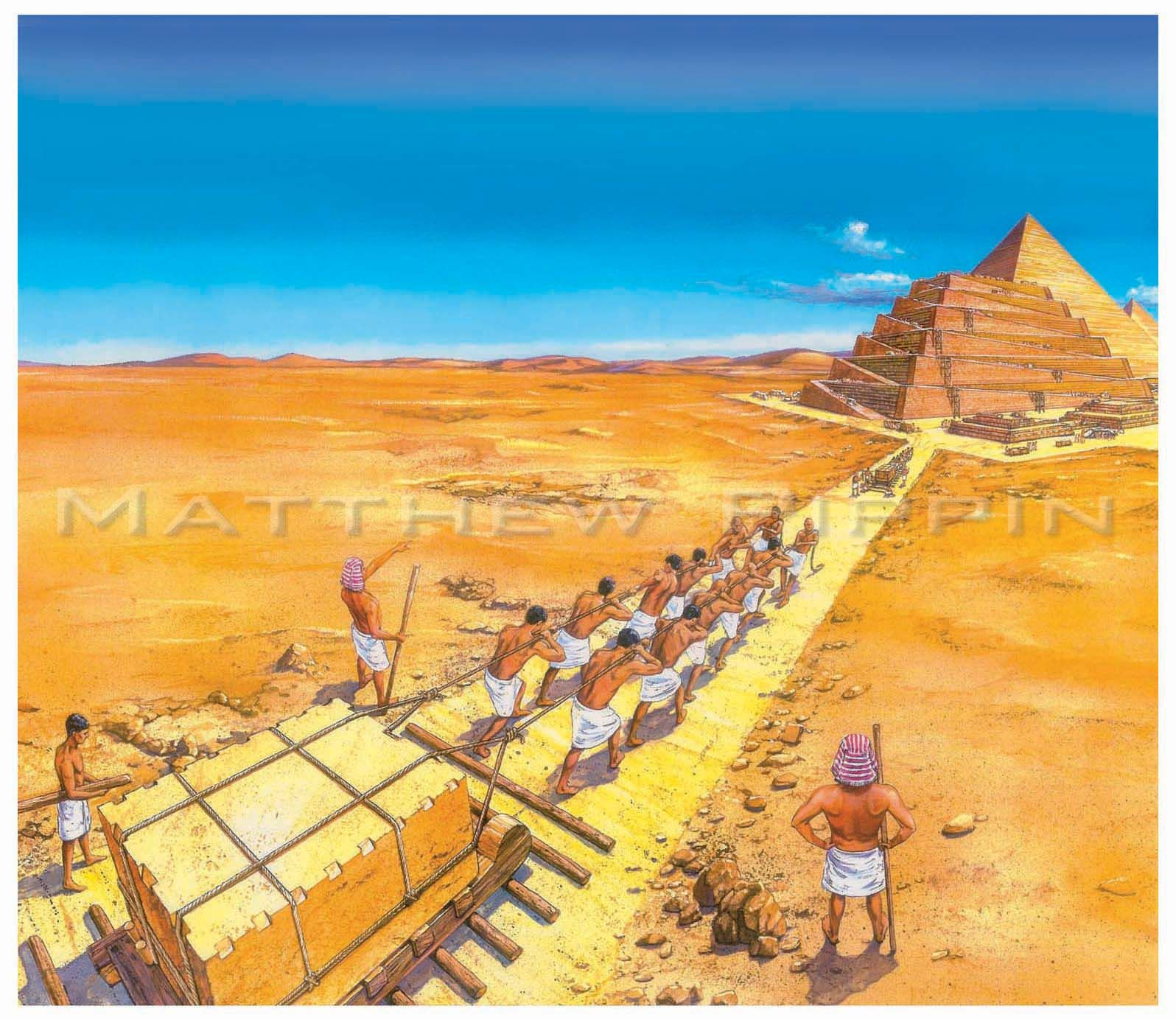 Image result for Slaves in Egypt building pyramid gif