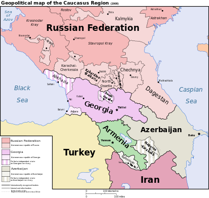 CAUCASUS located between the Black Sea and Caspian Sea Wikipedia