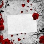 Elementi Di Scrapbooking Retro Valentine Card Background Vintage Romantic Background Red Roses