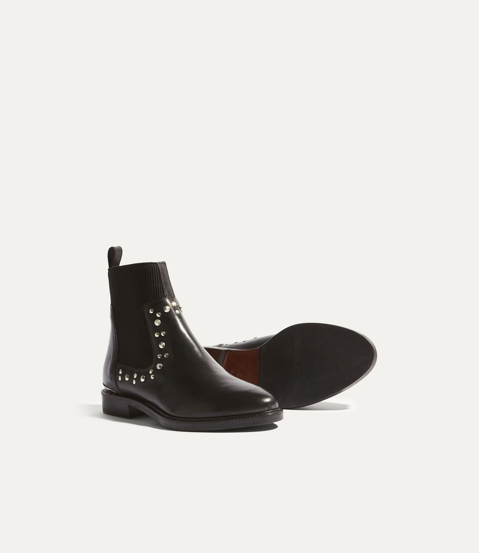 534d9ef1ade Karen Millen, STUDDED LEATHER CHELSEA BOOTS Black | fashion style ...