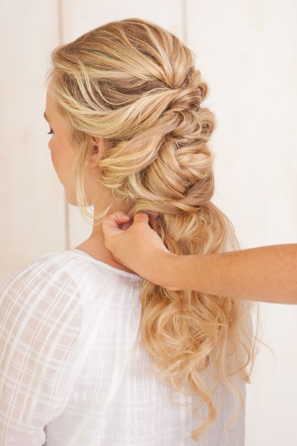 French braid twist tutorial. Love this idea for a wedding hairstyle! Click to see the tutorial.