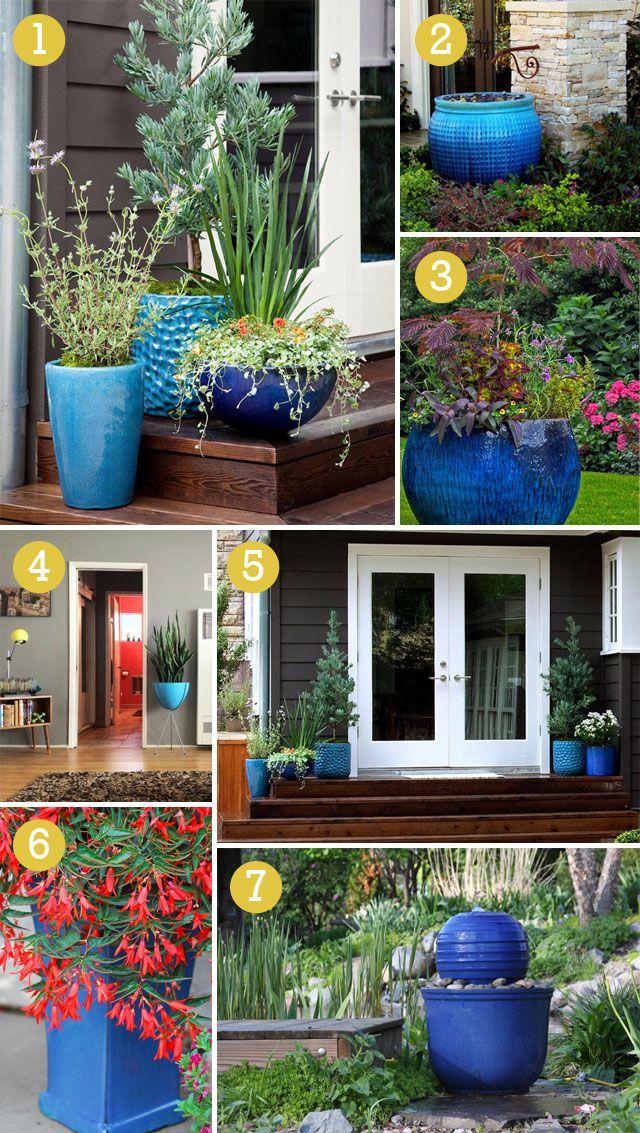 We Love Cobalt Blue Flower Pots Outdoor Blue Planter 400 x 300