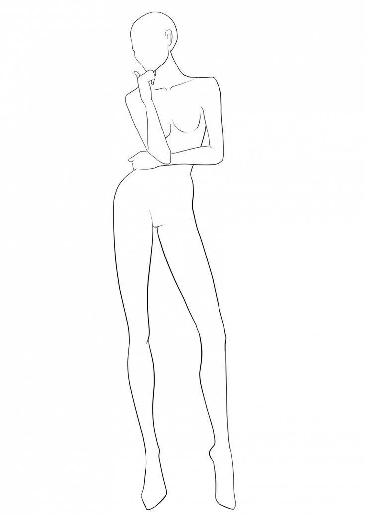 Fashion Template 37 In 2020 Fashion Illustration Poses Fashion Figure Templates Fashion Figure Drawing