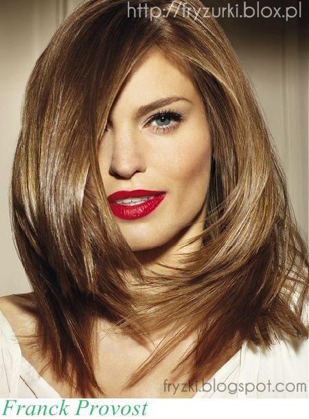 Ciemny Blond Jasnyzłoty Brąz Długie Włosy Fryzury