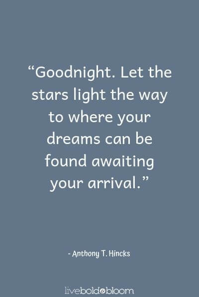 61 Good Night Quotes To Inspire Your Best Sleep Ever