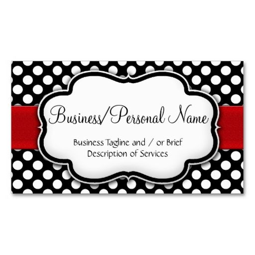 Black White Polka Dot Red Ribbon Front Back Business Card Zazzle Com In 2021 Red Business Cards Vintage Business Cards Template Business Cards Creative Templates