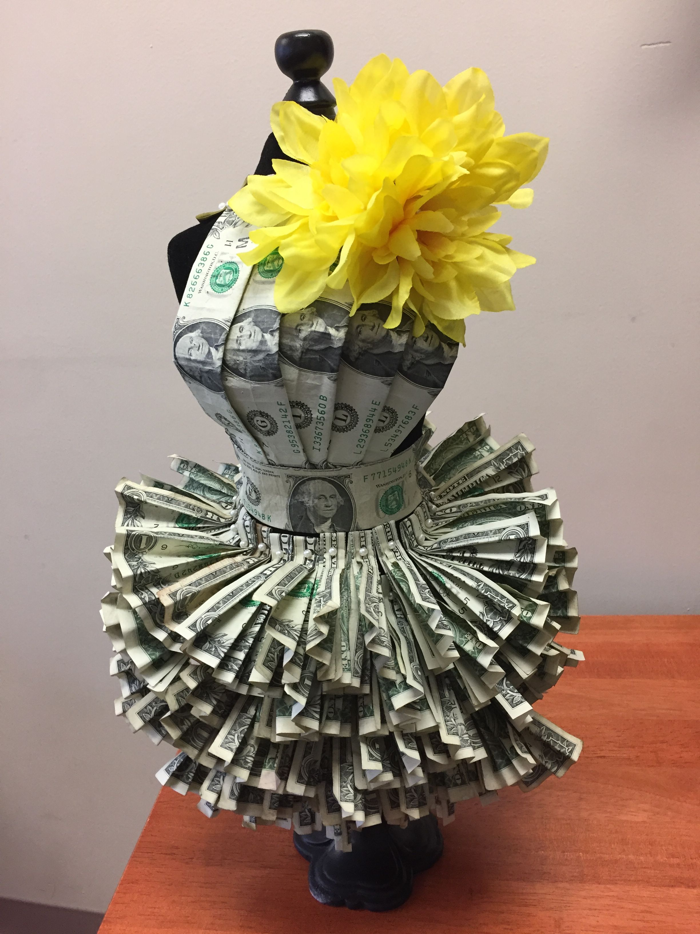 Money Dress Folding Money Birthday Money Money Cake