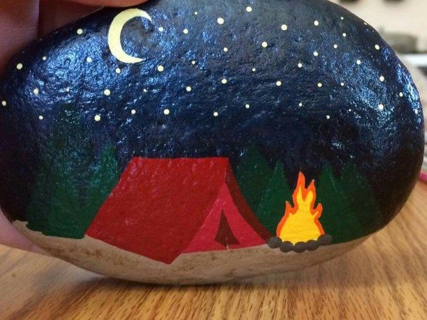 80 DIY Ideas of Painted Rocks with Inspirational Picture and Words #campingpictures
