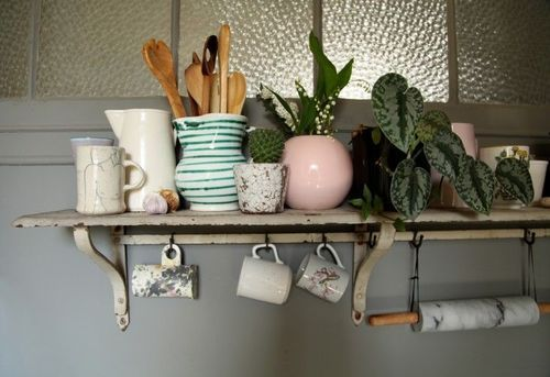 Diy Dramatic Kitchen Shelves On A Dime Remodelista: Pin By The Shiny Squirrel On Home & Collections