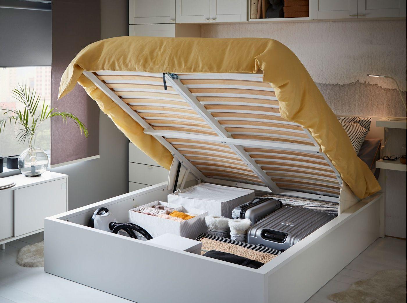 Create Your Own Bedroom Storage En 2020 Lit Pouf Lit Coffre Rangements Pour Chambre