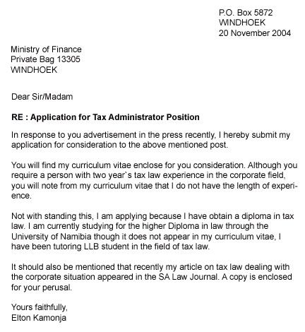 writing an application letter for employment application letter - plain text cover letter