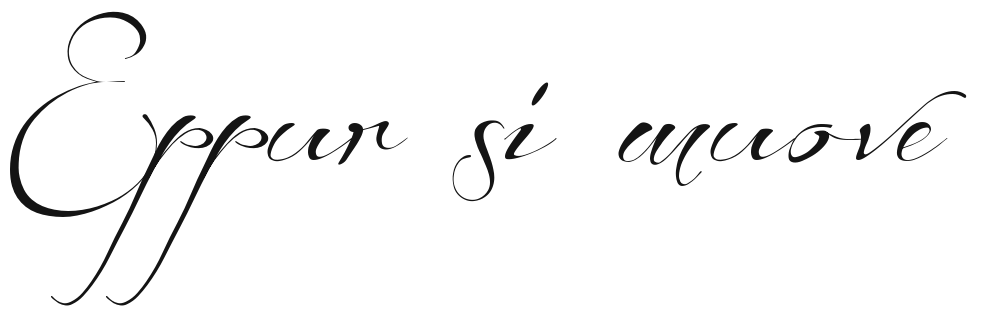 Citaten Cursief : Beforetherain cursive font quot eppur si muove tattoo the