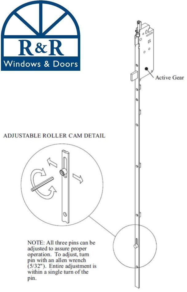W/&F Hinged Patio Door Hardware Security Lock Sliding Glass Brass Hurd French