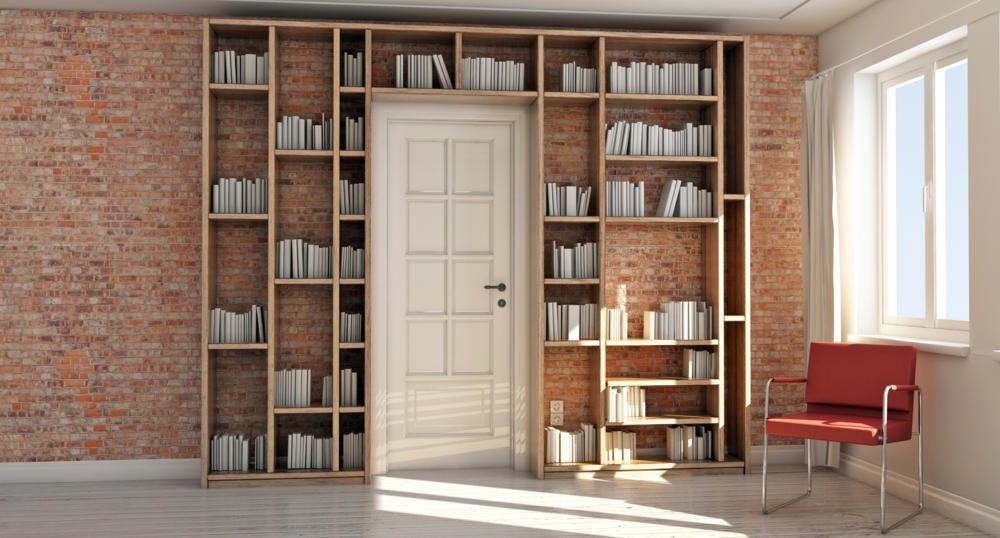 Billig Bücherregal Mit Türen Weiß