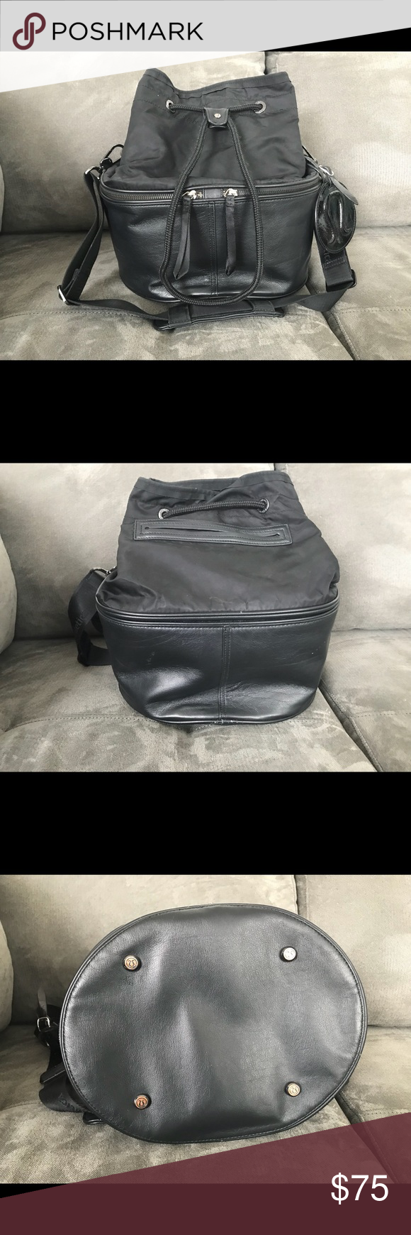 fdb297e7b77e30 Gently Used Lululemon Method Bucket Bag Lovely gently Used Lululemon bucket  bag. Please see photos for condition - outside looks great with only a tiny  ...