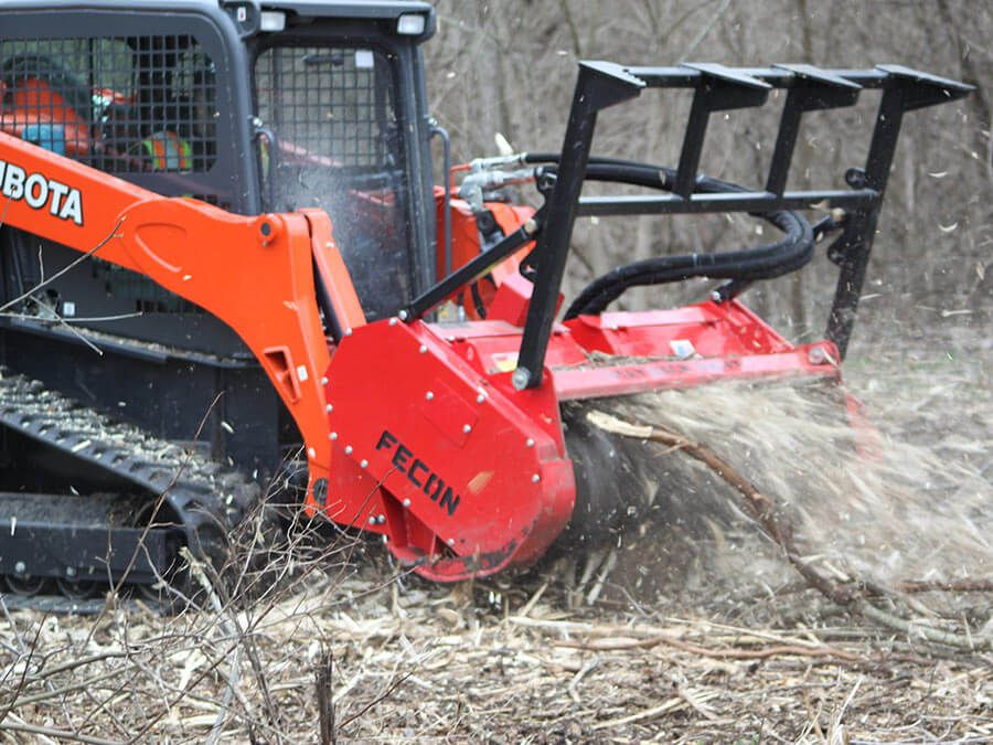 Bull hog for skid steers fecon skid steer attachments