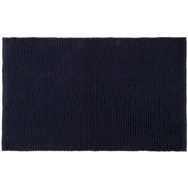 Chantilly Chenille Bath Mat Color Navy Featuring Polyvore Home Bed Rugs Blue Bathroom