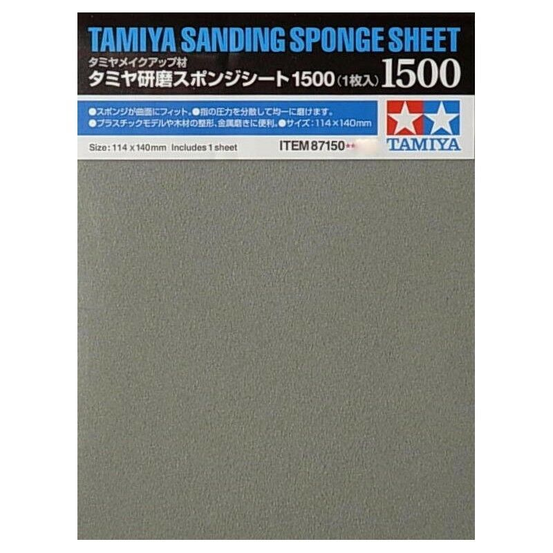 Tamiya Sanding Sponge Sheet Paper Finishing Material Plastic Model Craft Tools Sheet Paper Sponge Sanding Sponges Craft Tools Finishing Materials