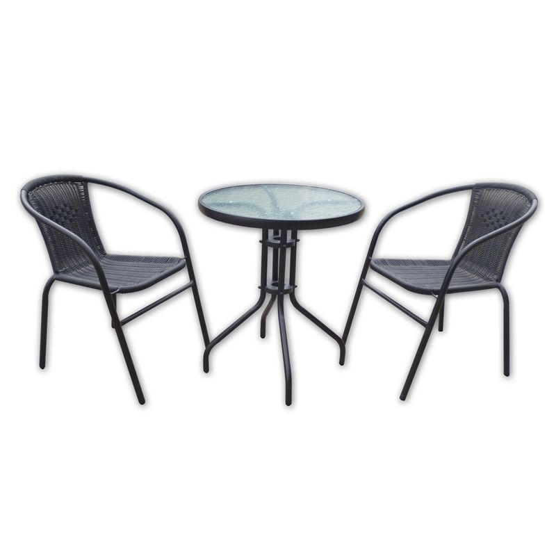 wicker bistro chairs - Garden Furniture 3 Piece