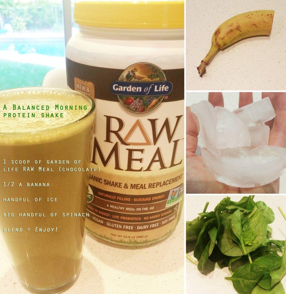 "Garden of Life RAW Meal ""Balanced Morning"" protein shake"