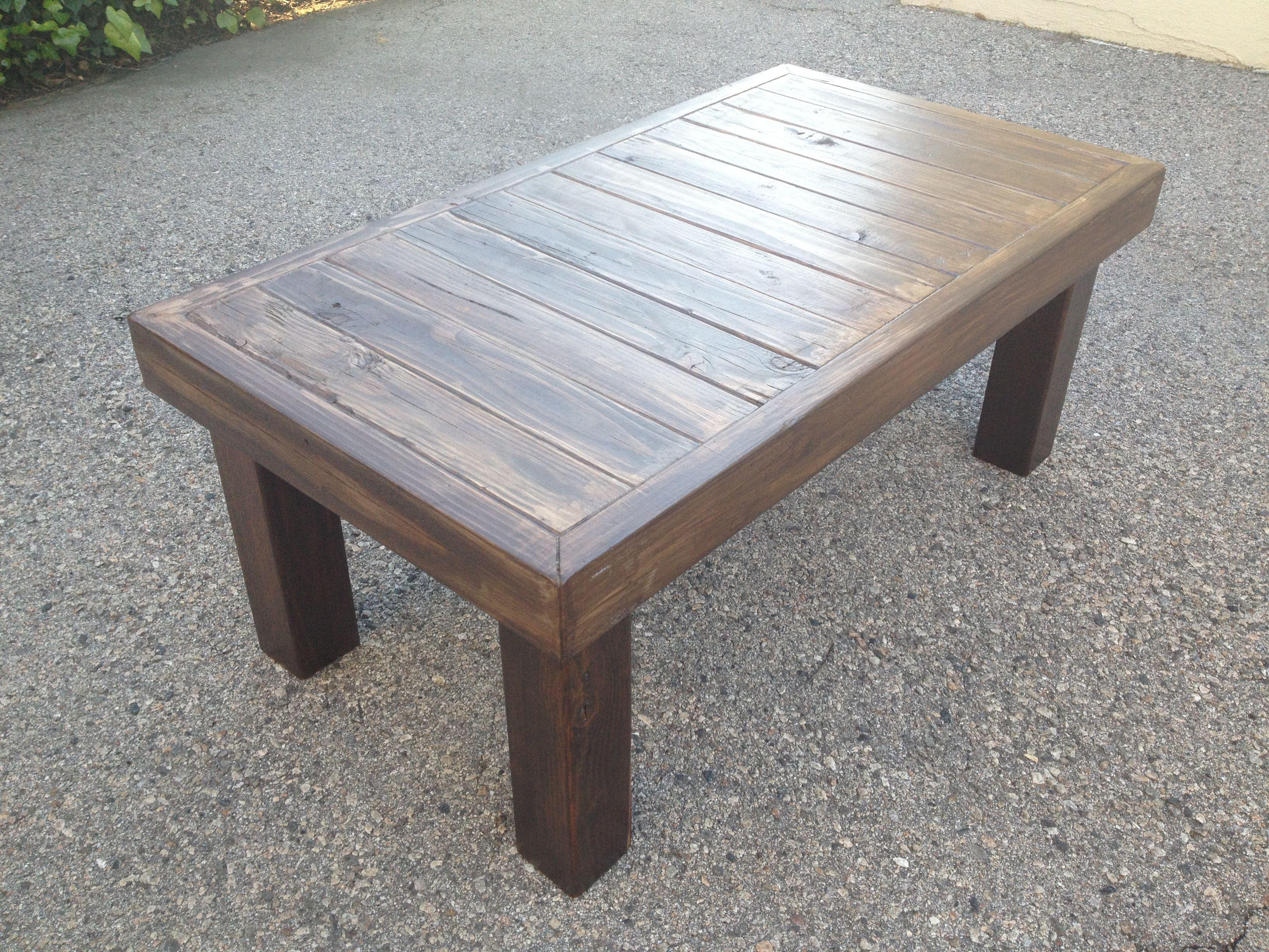 Great Custom Diy Rectangle Reclaimed Wood Table On Gray Cement Flooring As Patio Backyard Furn Coffee Table Wood Coffee Table Plans Reclaimed Wood Coffee Table [ 2448 x 3264 Pixel ]