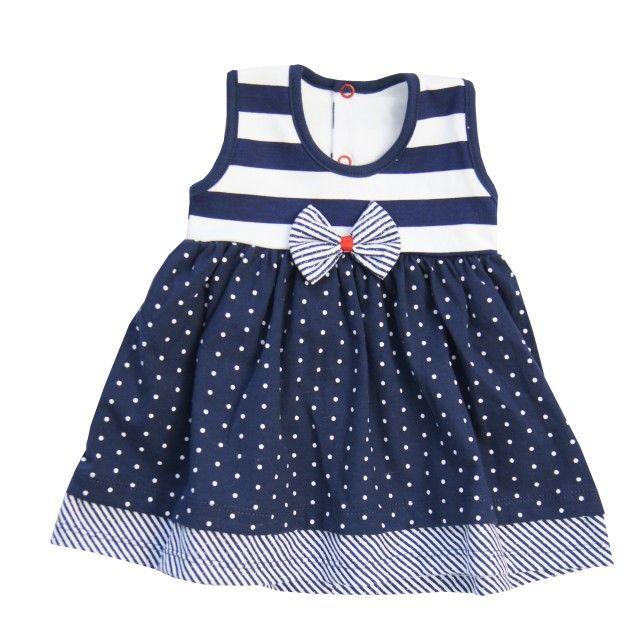 a989e8fc99 sukienka niemowlęca marynarska mrofi granatowa