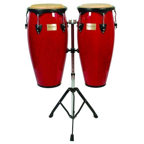 Tycoon Percussion 7 Inch /& 8 1//2 Inch Supremo Series Bongos Red Finish