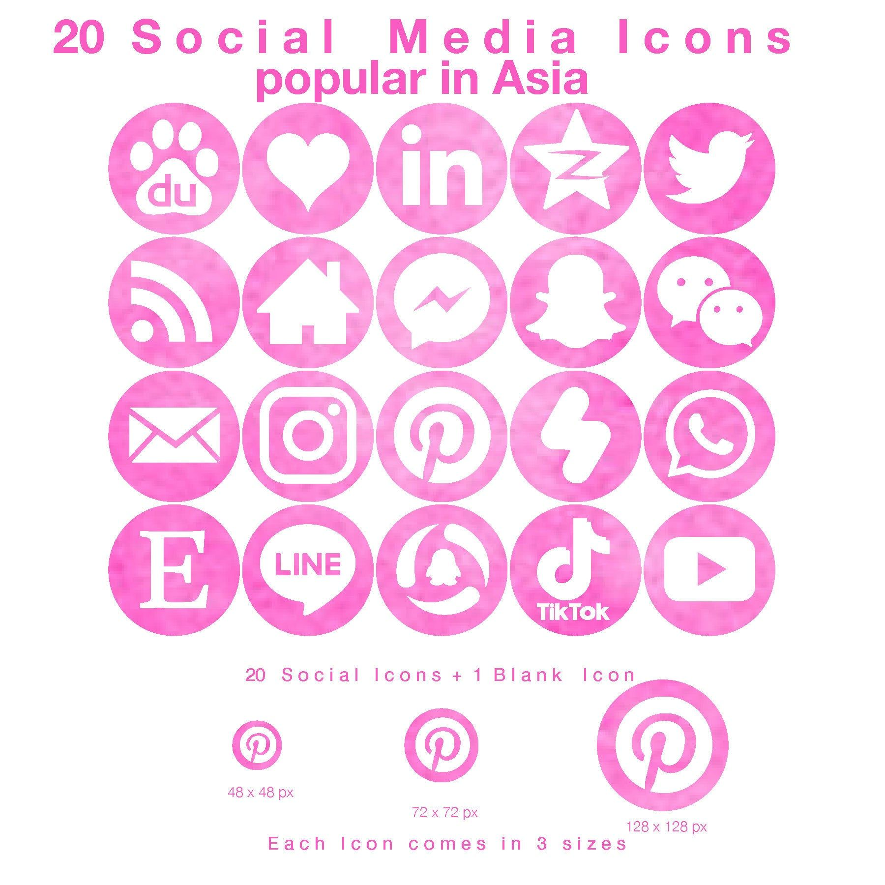 20 Web & Blog Icons for Social Media Popular in Asia