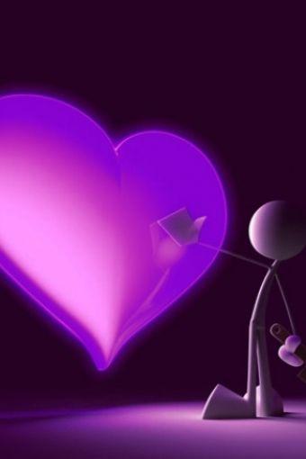 Love Letter Heart Purple Iphone Hd Wallpaper Purple Purple