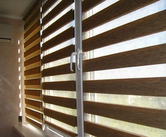 Рулонная штора ЗЕБРА на окна, фото, цены | Blinds ...