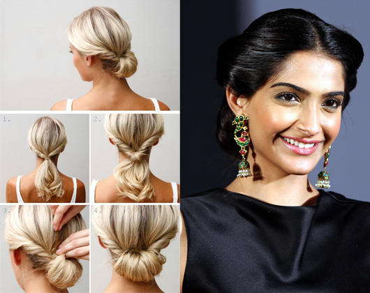 Keep It Simple Yet Elegant With Innovative Hair Buns This Hairstyle Compliments Both A Heavily Embellished Saree Or Le Fancy Hairstyles Hairstyle Hair Styles