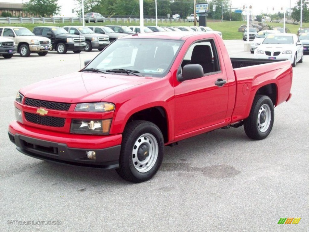 Victory Red 2013 Chevrolet Colorado Work Truck Regular Cab Chevrolet Colorado Work Truck Chevrolet